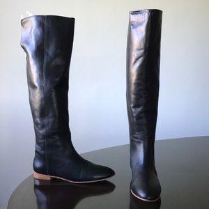 Loeffler Randall Flat Heel Knee hi 9.5B Black boot